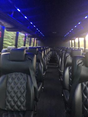 37 passenger luxury bus interior